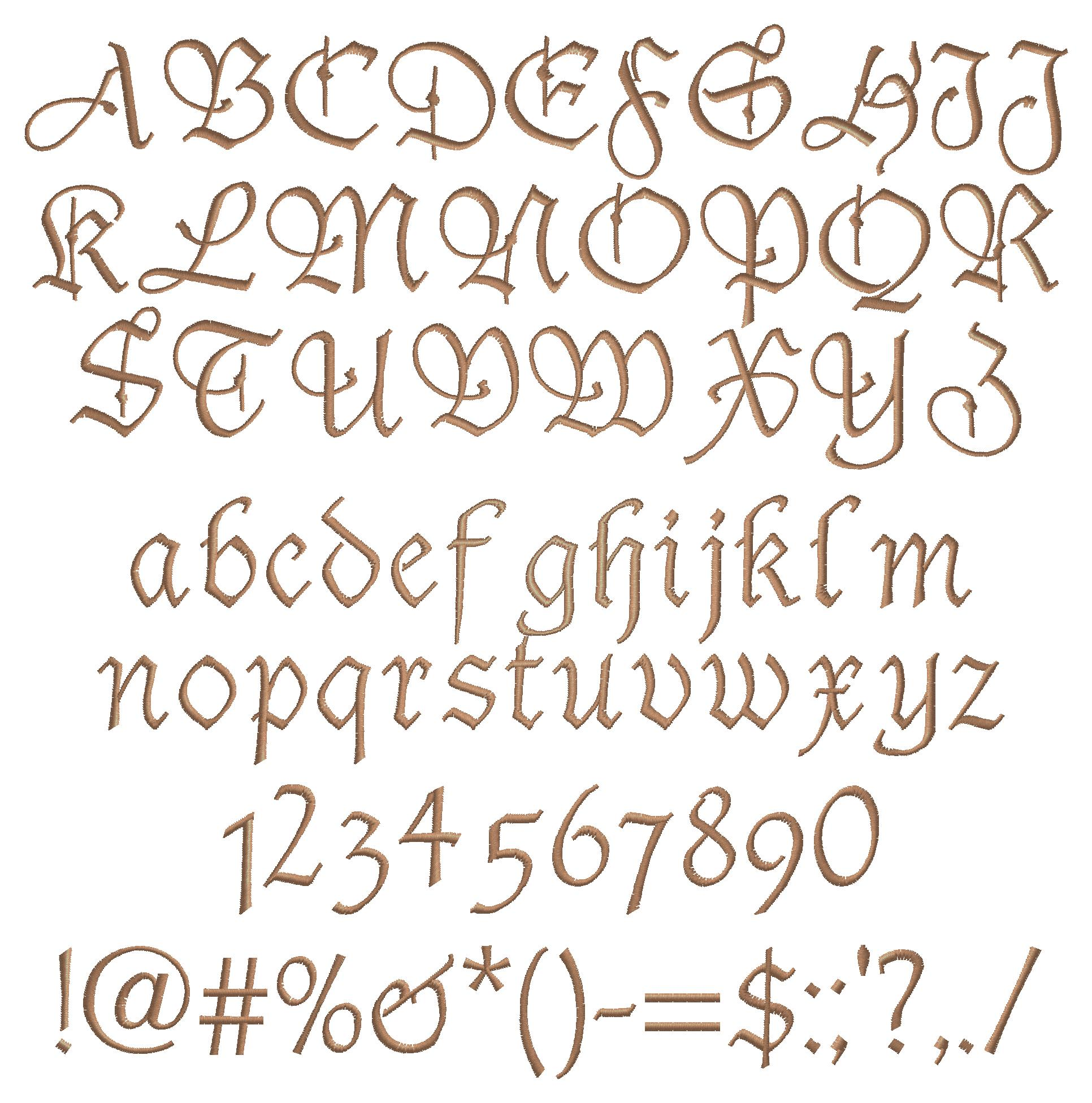 Tudor ScriptFancy Script Lettering Alphabet